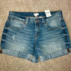 NEW! J Crew Cuffed Denim Shorts